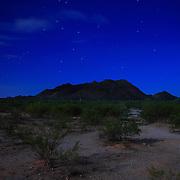 San Tan Regional Park at night, lit by the full moon - Queen Creek, AZ