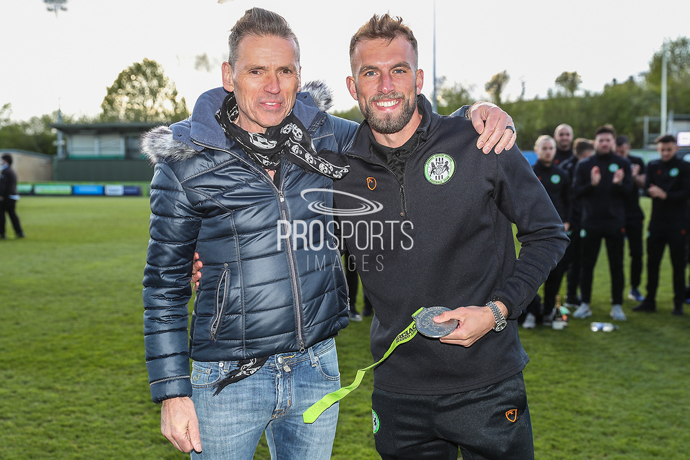 Forest Green Rovers Christian Doidge(9) top goal scorer during the EFL Sky Bet League 2 match between Forest Green Rovers and Exeter City at the New Lawn, Forest Green, United Kingdom on 4 May 2019.