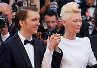 Paul Dano, Tilda Swinton at the Okja gala screening,  at the 70th Cannes Film Festival Friday 19th May 2017, Cannes, France. Photo credit: Doreen Kennedy