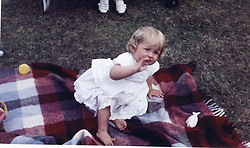 Family album picture of Lady Diana Spencer at Park House, Sandringham, Norflk on her first birthday.