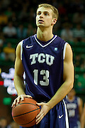 WACO, TX - JANUARY 11: Christian Gore #13 of the TCU Horned Frogs shoots a free-throw against the Baylor Bears on January 11, 2014 at the Ferrell Center in Waco, Texas.  (Photo by Cooper Neill/Getty Images) *** Local Caption *** Christian Gore