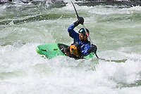 Whitewater kayaking in Tumwater Canyon of the Wenatchee River Washington USA