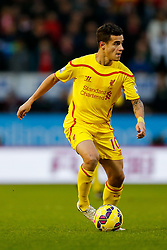 Philippe Coutinho of Liverpool in action - Photo mandatory by-line: Rogan Thomson/JMP - 07966 386802 - 26/12/2014 - SPORT - FOOTBALL - Burnley, England - Turf Moor Stadium - Burnley v Liverpool - Boxing Day Christmas Football - Barclays Premier League.