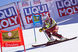 March 15, 2019 - Andorra - Benjamin THOMSEN during of the Alpine Team's race, Audi Fis Alpine Ski World Cup, Finals Round, on March 15, 2019 in Soldeu - El Tarter, Andorra (Credit Image: © AFP7 via ZUMA Wire)