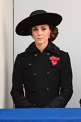 The Duchess of Cambridge during the annual Remembrance Sunday Service at the Cenotaph memorial in Whitehall, central London, held in tribute for members of the armed forces who have died in major conflicts. Picture date: Sunday November 13th, 2016. Photo credit should read: Matt Crossick/ EMPICS Entertainment.