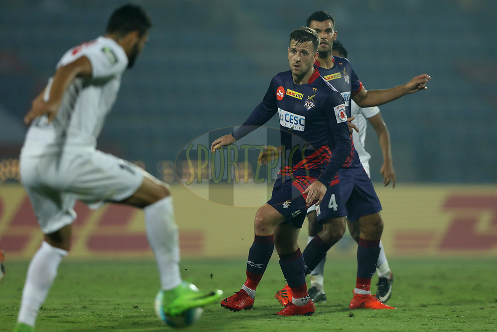 Ryan Taylor of ATK in action during match 45 of the Hero Indian Super League between NorthEast United FC and ATK  held at the Indira Gandhi Athletic Stadium, Guwahati India on the 12th January 2018<br /> <br /> Photo by: Arjun Singh  / ISL / SPORTZPICS