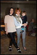 MELANIE RICKEY; MARY PORTAS, Sandi  and Debbie Toksvig,  renewing their civil partnership vows at the Royal Festival Hall. London. 29 March 2014.