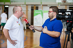 Nejc Visnikar, head coach of Slovenian Deaf Basketball team at media day, on June 13, 2016 in GIB Centre, Ljubljana, Slovenia. Photo by Vid Ponikvar / Sportida