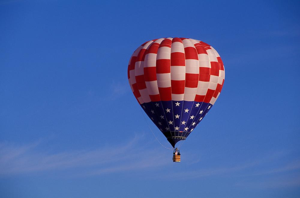 International Balloon Fiesta, Albuquerque, American Flag, New Mexico, USA