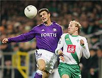 Fotball, 02. november 2004, Champions League SV Werder Bremen - RSC Anderlecht<br /> v.l. Michal ZEWLAKOW, Ludovic MAGNIN Bremen