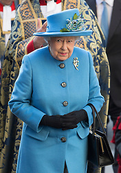 LONDON - UK - 14th Mar 2016: HM Queen Elizabeth, accompanied by HRH The Duke , The Duke and  Duchess of Cambridge, and Prince Harry attend the annual Commonwealth Day Service at Westminster Abbey in London.<br /> Photograph by Ian Jones.