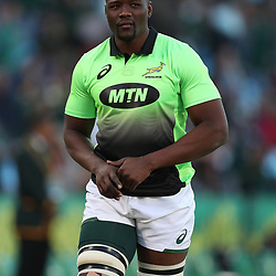 Oupa Mohoje of South Africa during the 1st test match between South Africa and France Loftus Versfeld stadium, Pretoria South Africa. 10th June 2017(Photo by Steve Haag Sports)
