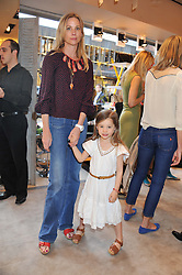 KATE DRIVER and her daughter JESSICA at a fun filled tea party hosted by Roger Vivier to view their Jeune Fille collection of shoes in aid of Mothers4Children held at Roger Vivier, Sloane Street, London on 27th March 2012.