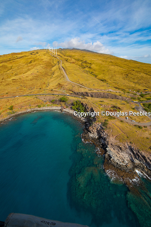Windmills, Aerial, Maui, Hawaii