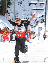 17.03.2017, Ramsau am Dachstein, AUT, Special Olympics 2017, Wintergames, Schneeschuhlauf, Divisioning 100 m, im Bild Josipa Anamarija Posavac (CRO) // during the Snowshoeing Divisioning 100 m at the Special Olympics World Winter Games Austria 2017 in Ramsau am Dachstein, Austria on 2017/03/17. EXPA Pictures © 2017, PhotoCredit: EXPA / Martin Huber