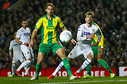 Leeds United forward Patrick Bamford (9) in action  during the EFL Sky Bet Championship match between Leeds United and West Bromwich Albion at Elland Road, Leeds, England on 1 March 2019.