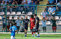 NAPLES, ITALY - Tuesday, September 17, 2019: Liverpool's Neco Williams is forced out with an injury during the UEFA Youth League Group E match between SSC Napoli and Liverpool FC at Stadio Comunale di Frattamaggiore. (Pic by David Rawcliffe/Propaganda)