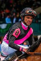 Jockeys after race, Keeneland Racecourse, Lexington, Kentucky USA.