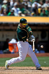 OAKLAND, CA - JULY 23:  Ben Zobrist #18 of the Oakland Athletics at bat against the Toronto Blue Jays during the eighth inning at O.co Coliseum on July 23, 2015 in Oakland, California. The Toronto Blue Jays defeated the Oakland Athletics 5-2. (Photo by Jason O. Watson/Getty Images) *** Local Caption *** Ben Zobrist