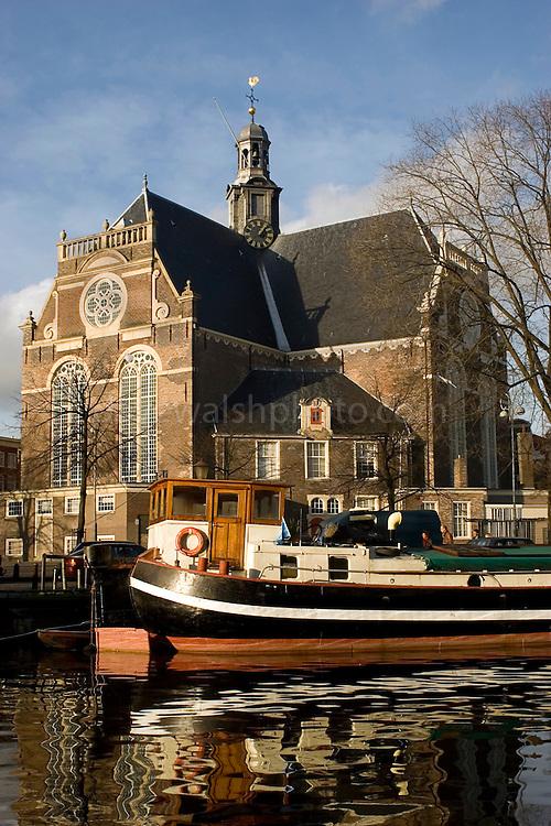 17th century church, the Noorderkerk, on the Prinsengracht, Amsterdam