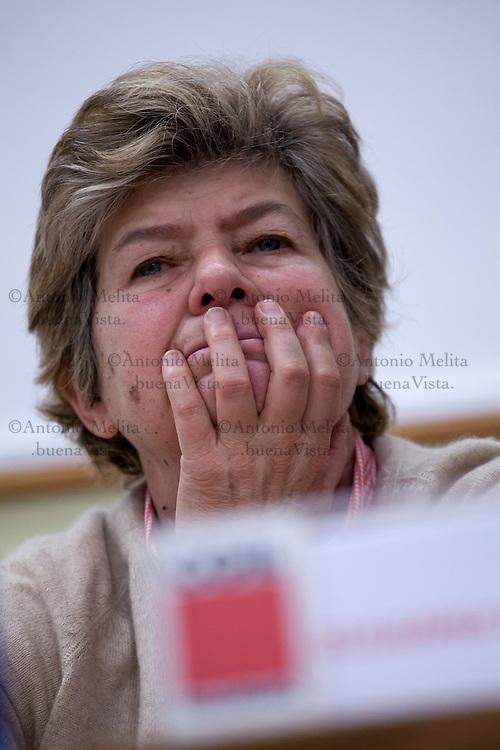 Susanna Camusso, segretario generale CGIL, partecipa all'assemblea generale della Camera del Lavoro di Palermo.