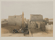 Grand Entrance to the Temple of Luxor from Egypt and Nubia, Volume II: Grand Entrance to the Temple of Luxor, 1848. Louis Haghe (British, 1806-1885), F.G.Moon, 20 Threadneedle Street, London, after David Roberts (British, 1796-1864). Color lithograph