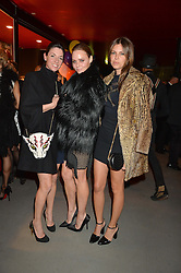 Left to right, MARY McCARTNEY, STELLA McCARTNEY and DASHA ZHUKOVA at 'The World's First Fabulous Fund Fair' in aid of the Naked Heart Foundation hosted by Natalia Vodianova and Karlie Kloss at The Roundhouse, Chalk Farm Road, London on 24th February 2015.
