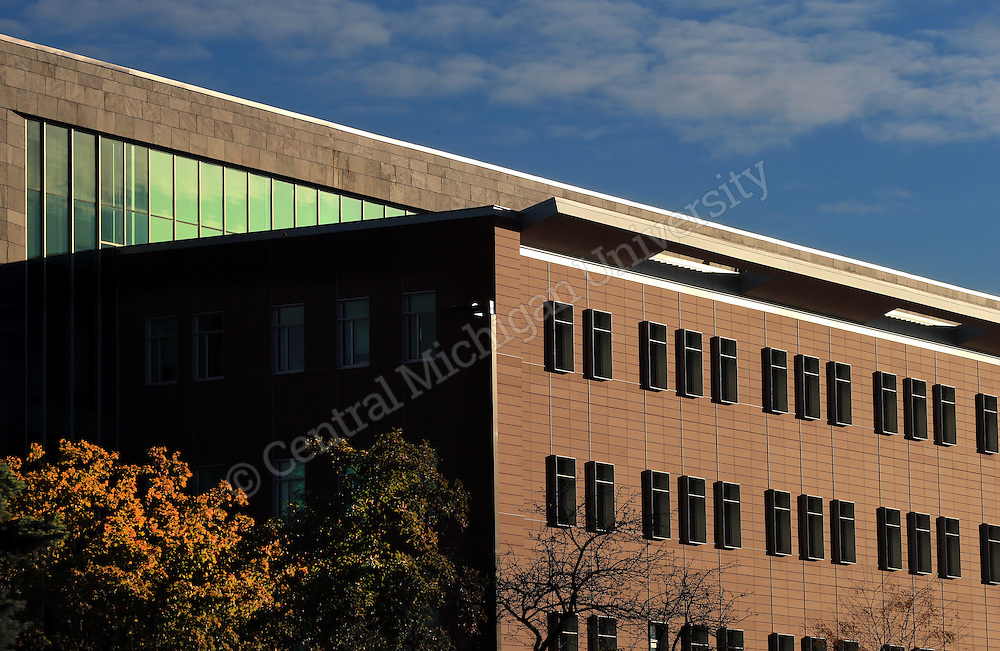 EHS Building. Fall color features scenics at Central Michigan University. Central Michigan University photo by Steve Jessmore