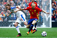 Jaroslav Plasil Czech, Andres Iniesta Spain <br /> Toulouse 13-06-2016 Stade de Toulouse Footballl Euro2016 Spain - Czech Republic  / Spagna - Repubblica Ceca Group Stage Group D. Foto Matteo Ciambelli / Insidefoto