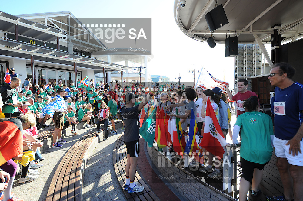 CAPE TOWN, South Africa - Friday 29 March 2013, during the Old Mutual Two Oceans Marathon International Friendship run at the Victoria and Alfred (V&A) Waterfront. .Photo by Roger Sedres/ ImageSA