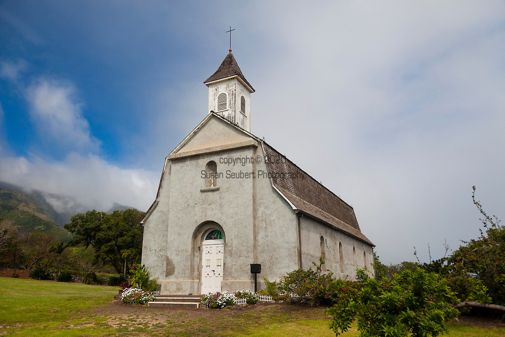 Maui, Hawaii. Kaupo, a tiny blip in the road featuring the historic St. Joseph's church, a relic from the past