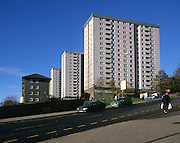 High rise housing in Dundee, Scotland