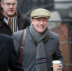 © Licensed to London News Pictures. 09/02/2012. London, UK. Former News of the World news editor Ian Edmondson arriving at the Royal Courts of Justice on February 9th, 2012 to give evidence at the Leveson Inquiry in to press standards.. Photo credit : Ben Cawthra/LNP