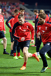 ADELAIDE, AUSTRALIA - Sunday, July 19, 2015: Liverpool's James Milner during a training session at Coopers Stadium ahead of a preseason friendly match against Adelaide United on day seven of the club's preseason tour. (Pic by David Rawcliffe/Propaganda)
