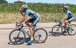 05.07.2017, Altheim, AUT, Ö-Tour, Österreich Radrundfahrt 2017, 3. Etappe von Wieselburg nach Altheim (226,2km), im Bild Markus Eibegger (AUT, Team Felbermayr Simplon Wels), Lukas Schlemmer (AUT, Team Felbermayr Simplon Wels) // Markus Eibegger (AUT, Team Felbermayr Simplon Wels), Lukas Schlemmer (AUT, Team Felbermayr Simplon Wels) during the 3rd stage from Wieselburg to Altheim (199,6km) of 2017 Tour of Austria. Altheim, Austria on 2017/07/05. EXPA Pictures © 2017, PhotoCredit: EXPA/ JFK