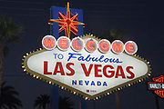 General overall view of the Welcome to Fabulous Las Vegas sign on the Las Vegas strip on Las Vegas Blvd., in Las Vegas, Tuesday, Sept. 25, 2018.