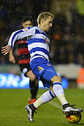 Reading's Matej Vydra controls the ball during the Sky Bet Championship match between Reading and Queens Park Rangers at the Madejski Stadium, Reading, England on 3 December 2015. Photo by Mark Davies.