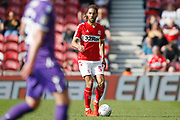 Middlesbrough defender Ryan Shotton (5)  during the EFL Sky Bet Championship match between Middlesbrough and Stoke City at the Riverside Stadium, Middlesbrough, England on 19 April 2019.
