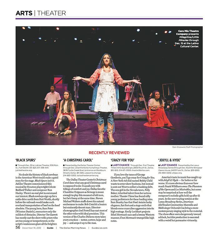 The Dallas Morning News -Guide, 56, December 14, 2012.