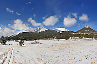Longs Peak Panorama - Winter in Rocky Mountain National Park. Image taken with a Nikon D3 and 24 mm f/2.8 lens (ISO 200, f/11, 1/500 sec)