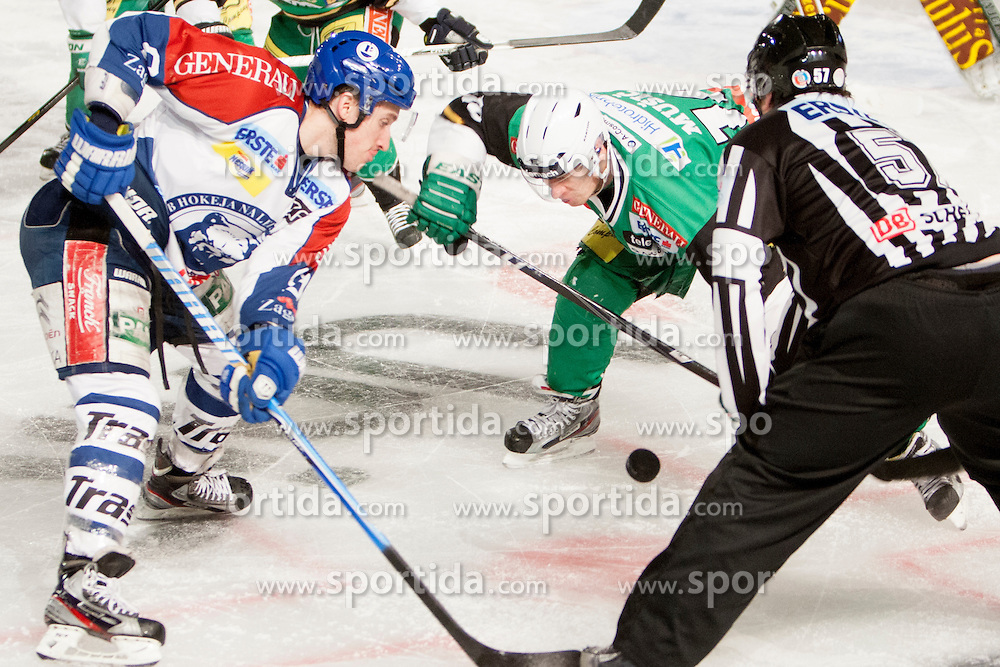 06.01.2013, Stadium Bezigrad, Ljubljana, SLO, EBEL, HDD Telemach Olimpija Ljubljana vs KHL Medvescak Zagreb 39. Runde, in picture  during the Erste Bank Ice Hockey League in 39th Round match between HDD Telemach Olimpija Ljubljana and KHL Medvescak Zagreb at the open ice winter classic Stadium Bezigrad, Ljubljana, Slovenia on 2013/01/06. (Photo By Urban Urbanc / Sportida.com)