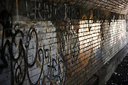 Newark New Jersey Branch Brook Park underpass.  This graffiti-filled tunnel is an interesting lighting situation, though not a place to be late at night.