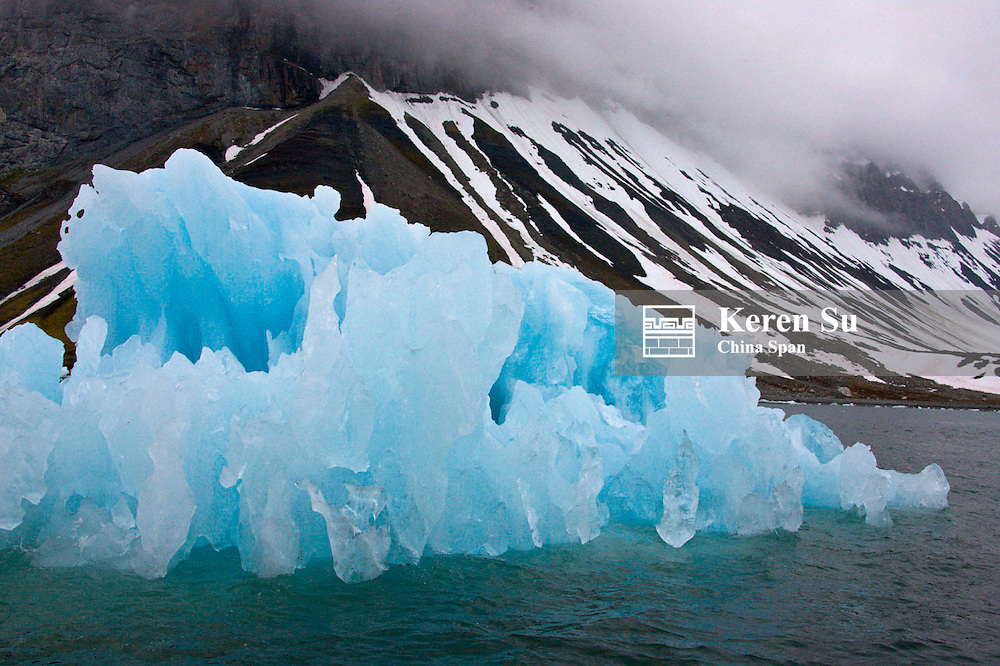 Iceberg, Hornsund, Spitsbergen's southernmost fjord, Norway