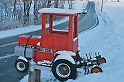 Winter Snow, Berks Co., PA Scene Rural Unique Tractor Mailbox