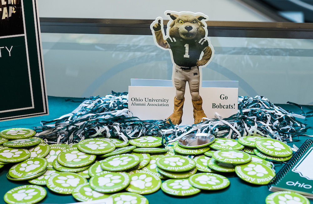 The Ohio University Alumni Association was just one of many groups welcoming new Bobcats to campus during Bobcat Student Orientation on Friday, June 5, 2015.  Photo by Ohio University  /  Rob Hardin