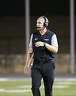 Vandegrift Vipers head coach Drew Sanders on the sidelines during a high school football game between Cedar Park High School and Vandegrift High School at Gupton Stadium in Cedar Park on Friday, September 2, 2016.