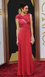 Olga Kurylenko arriving to the 2014 Oscars at the Hollywood and Highland Center in Hollywood, California, USA,  Sunday, 2nd March 2014. Picture by Hollywood Bubbles / i-Images<br /> UK ONLY