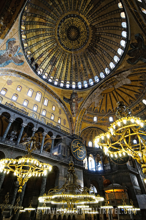 Originally built as a Christian cathedral, then converted to a Muslim mosque in the 15th century, and now a museum (since 1935), the Hagia Sophia is one of the oldest and grandest buildings in Istanbul. For a thousand years, it was the largest cathedral in the world and is regarded as the crowning achievement of Byzantine architecture.