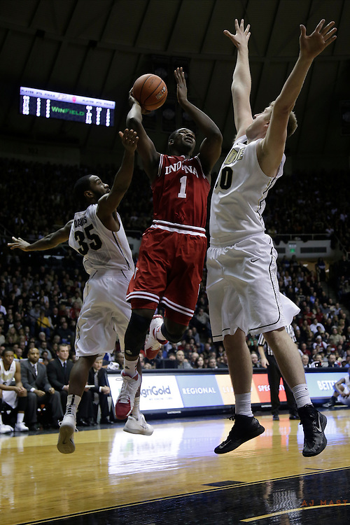 15 February 2014: Indiana Forward Noah Vonleh (1) as the Indiana Hoosiers played the Purdue Boilermakers in a college basketball game in West Lafayette, Ind.
