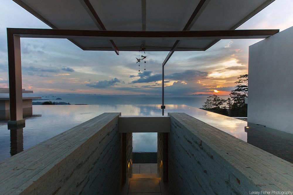 Entrance at Lime Villa 4, a luxury private, ocean view villa, Koh Samui, Surat Thani, Thailand